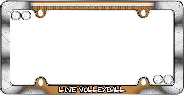 Live Volleyball License Plate Frame Kit - CRU23343