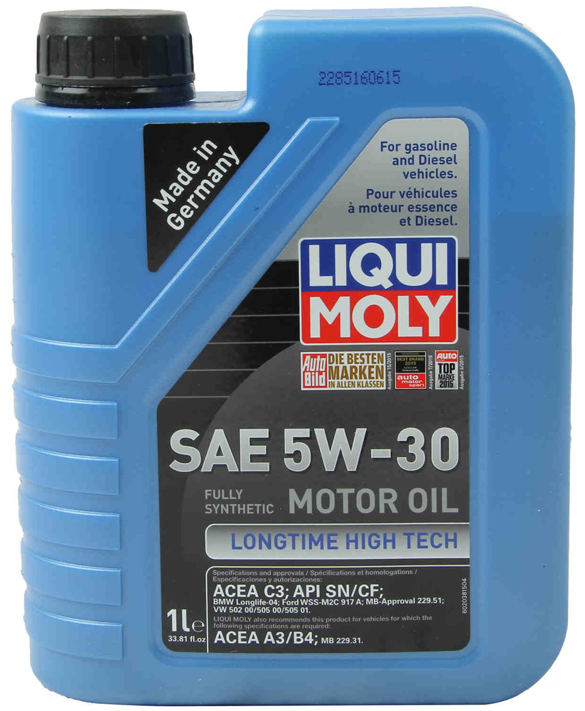 Image of Liqui-Moly Longtime High Tech 5W-30 Motor Oil - 1 liter