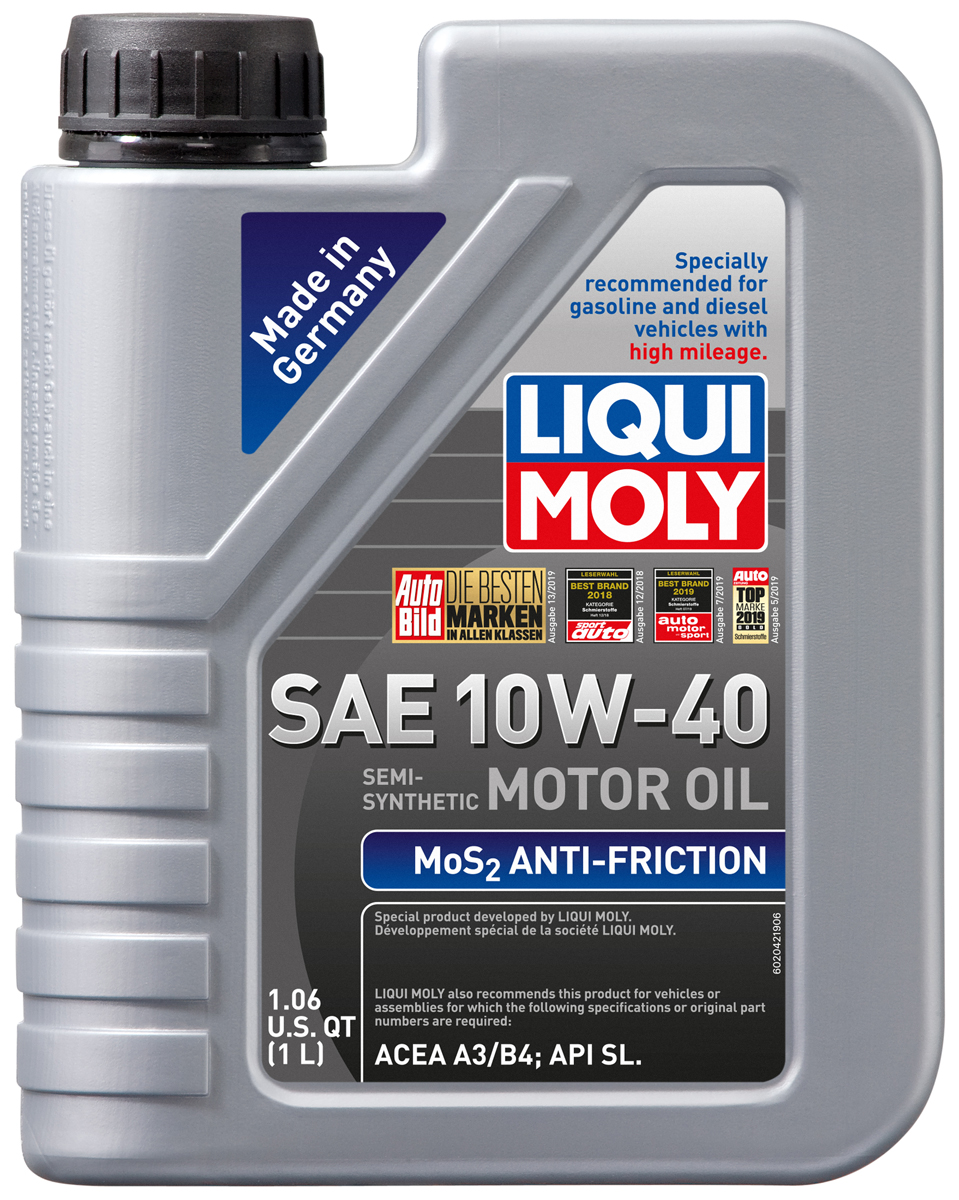 Lubro-Moly MoS2 Anti-Friction 10W40 Motor Oil -  5 liter