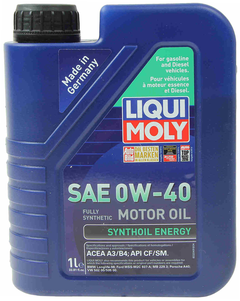 Image of Liqui-Moly Synthoil Energy 0W-40 Motor Oil - 1 liter