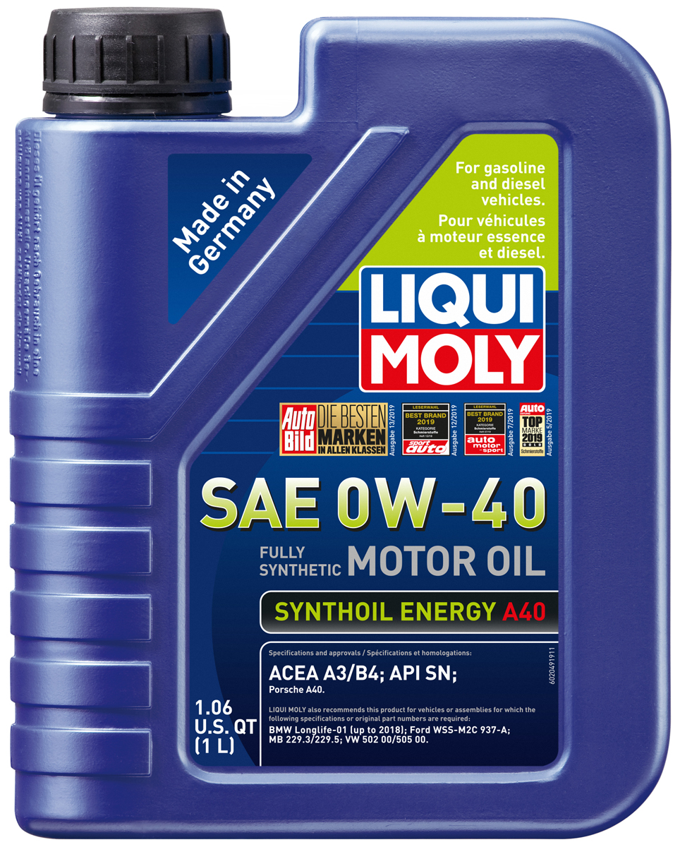 Liqui-Moly Synthoil Energy 0W-40 Motor Oil -  1 liter