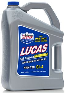 Lucas 15W40 Magnum High TBN CI-4 Truck Oil (Gallon)