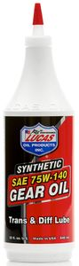 Lucas 75W140 Synthetic Gear Oil (1 Qt.)