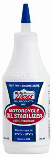 Image of Lucas Motorcycle Oil Stabilizer (12 Oz)