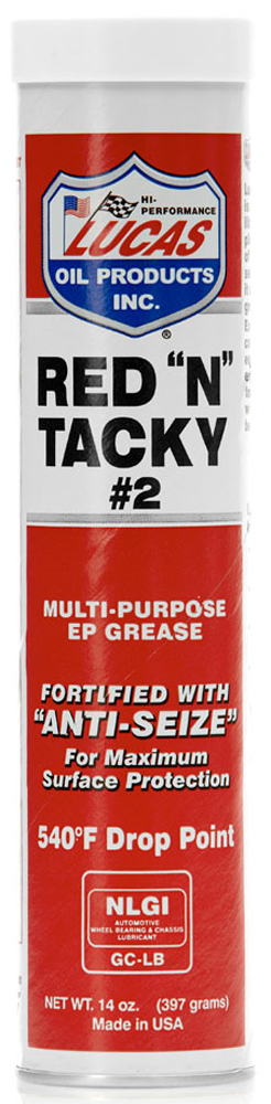 """Image of """"Lucas Red """"""""N"""""""" Tacky Multi-Purpose EP Grease (14 oz.)"""""""