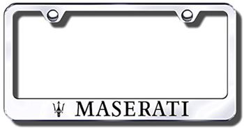 Maserati Laser Etched Stainless Steel License Plate Frame