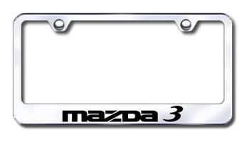Mazda 3 Laser Etched Stainless Steel License Plate Frame