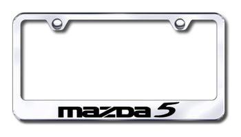 Mazda 5 Laser Etched Stainless Steel License Plate Frame