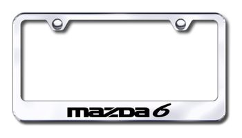 Mazda 6 Laser Etched Stainless Steel License Plate Frame
