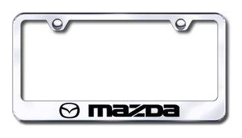 Mazda Laser Etched Stainless Steel License Plate Frame