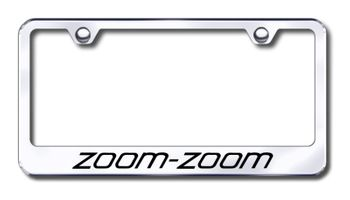 Mazda Zoom Zoom Laser Etched Stainless Steel License Plate Frame