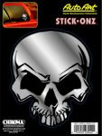 "Mean Skull Classic Emblem Decal (6"" x 8"")"