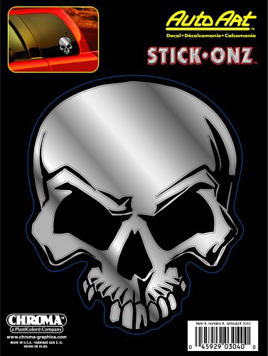 "Image of ""Mean Skull Classic Emblem Decal (6"""" x 8"""")"""