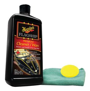Meguiar's Flagship Premium Cleaner & Wax (32 oz.), with Foam Pad & Microfiber Cloth Kit
