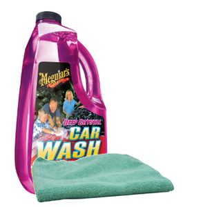Meguiar's Deep Crystal Car Wash (64 oz.) & Microfiber Cloth Kit