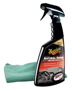 Meguiar's Natural Shine Vinyl & Rubber Protectant (16 oz.), Microfiber Cloth Kit