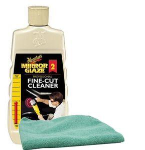 Meguiar's Professional Fine-Cut Cleaner (16 oz.), Microfiber Cloth Kit
