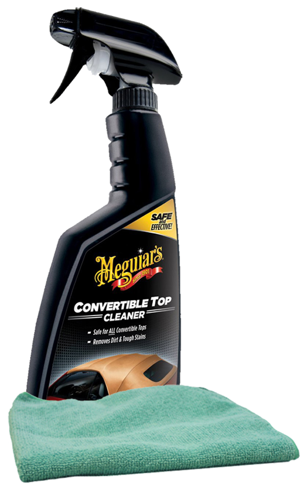 Image of Meguiars Convertible Top Cleaner (16 oz) Microfiber Cloth Kit