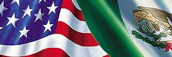 Mexican-American Flag Rear Window Decal