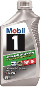 Mobil 1 0W16 Advanced Fuel Economy Synthetic Engine Oil (1 Qt)
