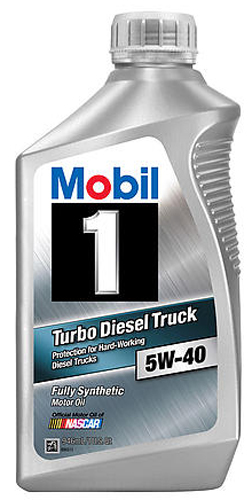 Image of Mobil 1 5W40 Turbo Diesel Truck Synthetic Motor Oil (1Qt)