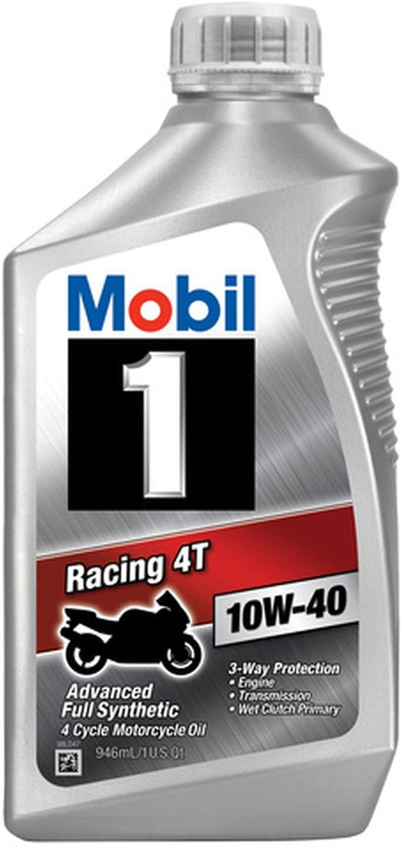 Image of Mobil 1 Racing 4T 10W-40 Motorcycle Oil