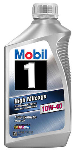 Image of Mobil 1 Synthetic High Mileage 10W40 Motor Oil