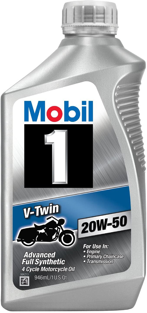 Image of Mobil 1 V Twin 20W-50 Motorcycle Oil