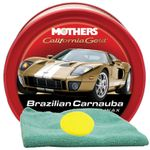 Mothers California Gold® Brazilian Carnauba Cleaner Wax (12 oz.), Microfiber Cloth & Foam Pad Kit
