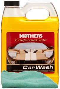 Mothers California Gold Car Wash (32 oz.), Microfiber Cloth Kit