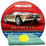 Mothers California Gold® Pure Brazilian Carnauba Wax (12 oz), Microfiber Cloth & Foam Pad Kit