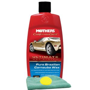 Mothers California Gold® Pure Brazilian Carnauba Wax (16 oz.), Microfiber Cloth & Foam Pad Kit