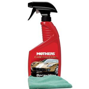 Mothers California Gold Spray Wax (24 oz) & Microfiber Cloth Kit