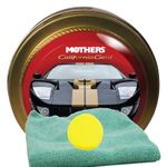 Mothers California Gold Synthetic Paste Wax (11 oz), Microfiber Cloth & Foam Pad Kit