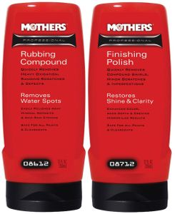 Mothers Rubbing Compound & Finishing Polish Paint Restoration System