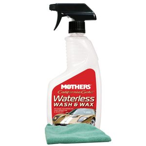 Mothers Waterless Car Wash & Wax (24 oz), Microfiber Cloth Kit