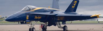 National Geographic F-18 Fighter on Ramp Rear Window Decal