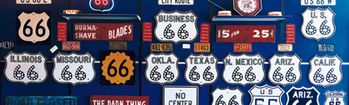 National Geographic Route 66 Sign Collection Rear Window Decal