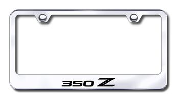 Nissan 350Z Laser Etched Stainless Steel License Plate Frame