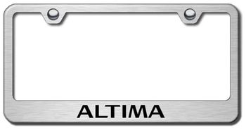 Nissan Altima Laser Etched Stainless Steel License Plate Frame