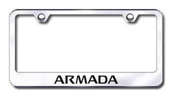 Nissan Armada Laser Etched Stainless Steel License Plate Frame