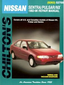 Nissan Sentra, Pulsar & NX Chilton Manual (1982-1996)