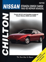 Nissan Stanza, 200SX & 240SX Chilton Manual (1982-1992)