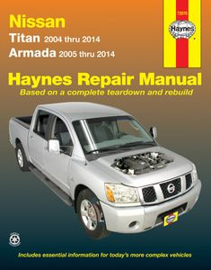 Nissan Titan & Armada Haynes Repair Manual (2004-2014)