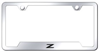 Nissan Z Laser Etched Stainless Steel Cut-Out License Plate Frame