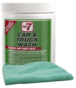 No. 7 Car Wash Concentrated Powder (8 oz.) & Microfiber Cloth Kit
