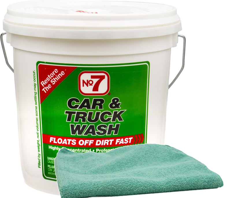 Image of No. 7 Concentrated Car Wash Powder (4 lbs.) & Microfiber Cloth Kit