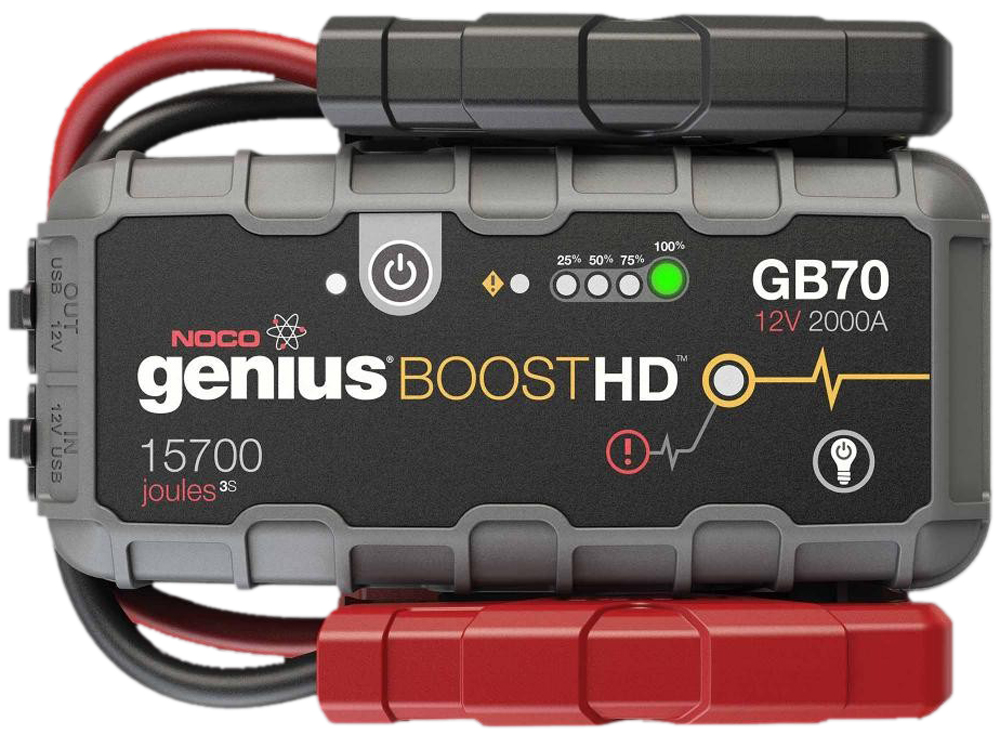 Image of Genius Boost HD 12V 2000 Amp Ultra Safe Lithium Jump Starter & USB Charger
