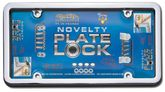 Novelty Plate Lock Chrome/Clear Tuf-Shield & License Plate Frame