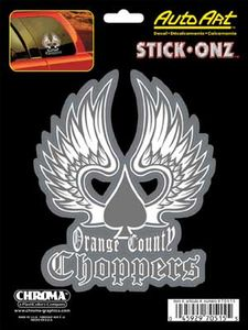 "Orange County Choppers Winged Spade  6"" x 8"" Vinyl Decal"
